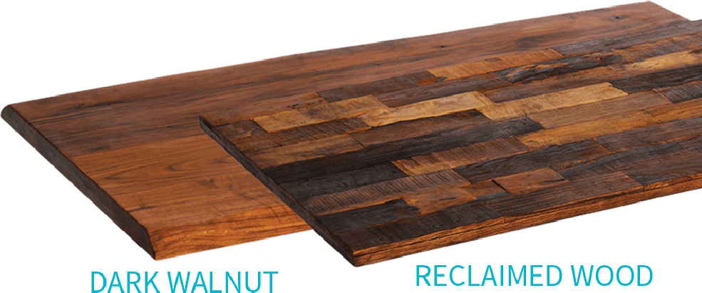 Reclaimed & natural wood tops