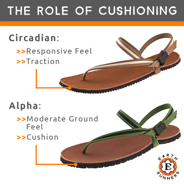 cushioning running sandal sole