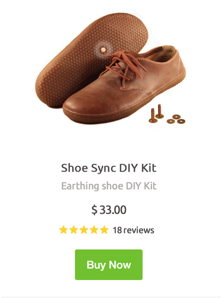 shoe sync earthing shoe diy kit