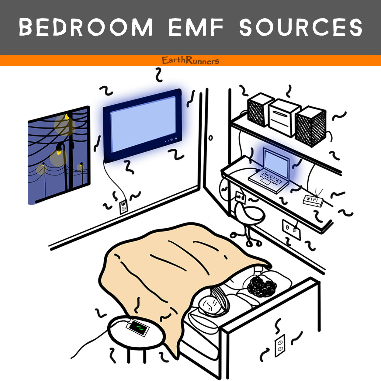 bedroom blue light emf