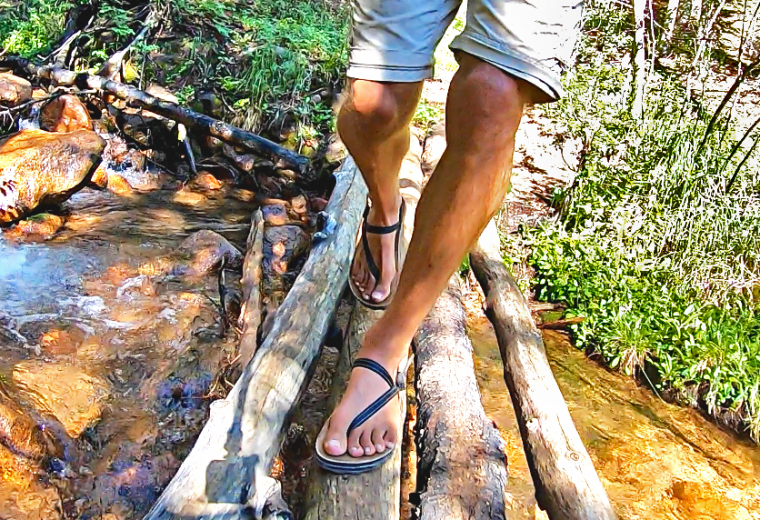 water running sandal traction