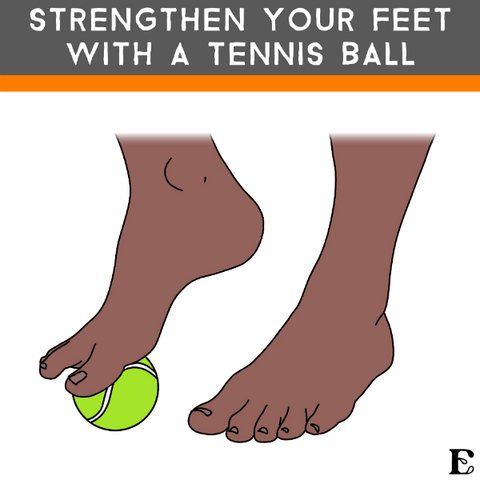 tennis ball foot exercise