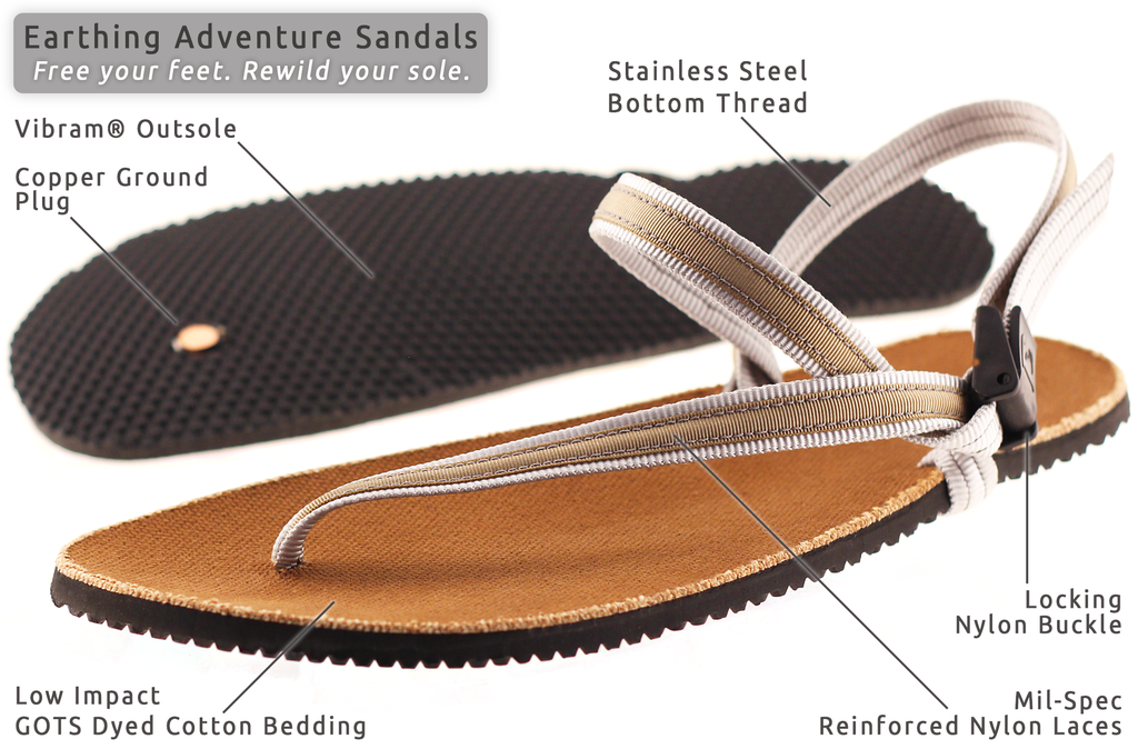 earthing adventure sandals