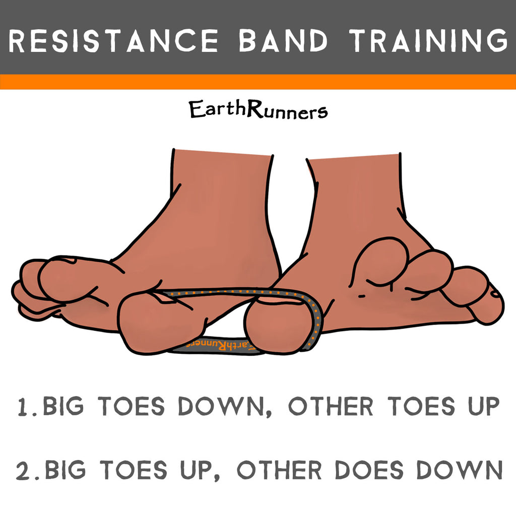 resistance band for strong feet