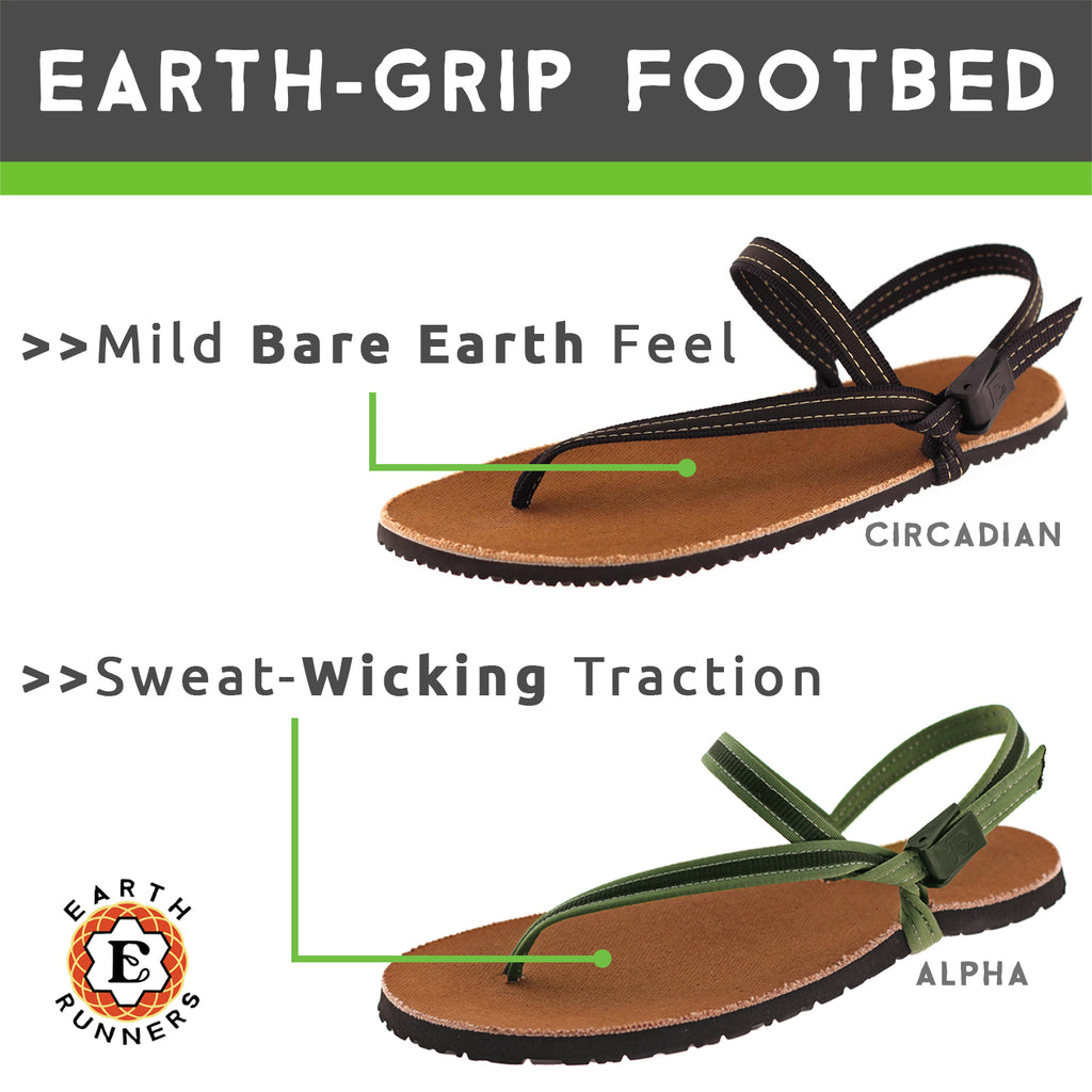 sweat wicking footbed running sandal