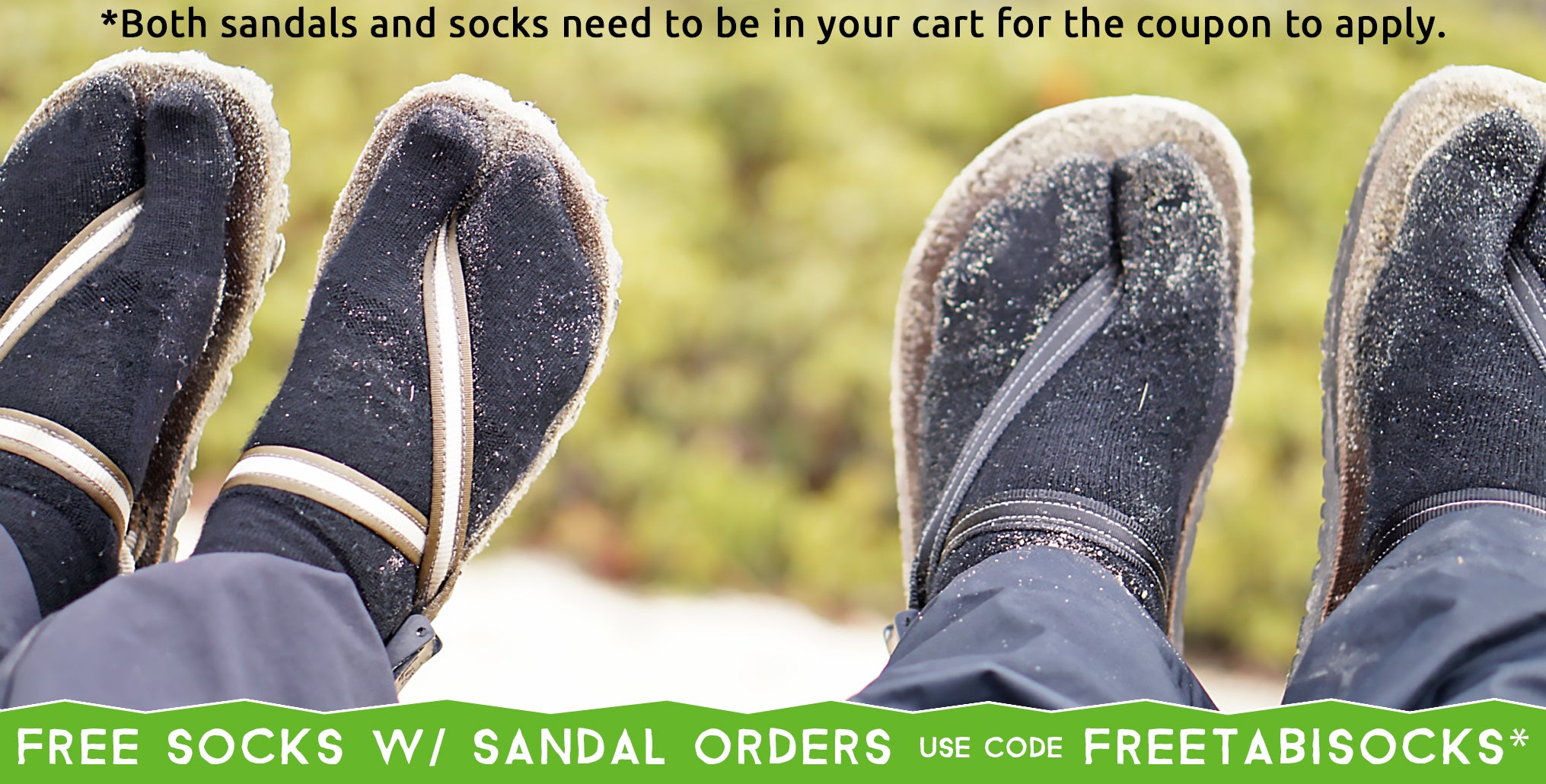 earthing adventure sandals and wool tabi socks