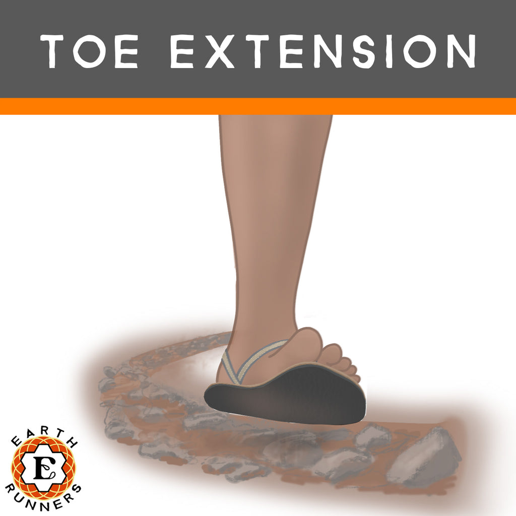 toe extension in running sandals