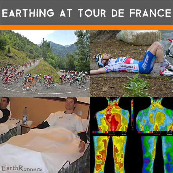 earthing at tour de france for recovery