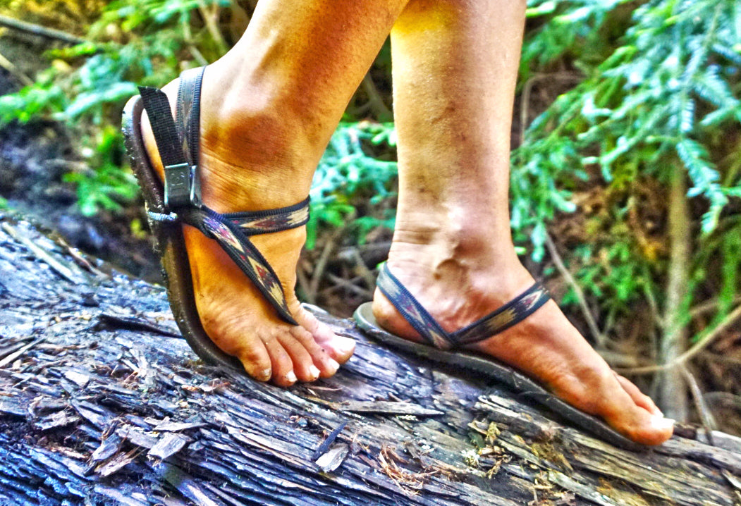 tribal water sandal tree climb
