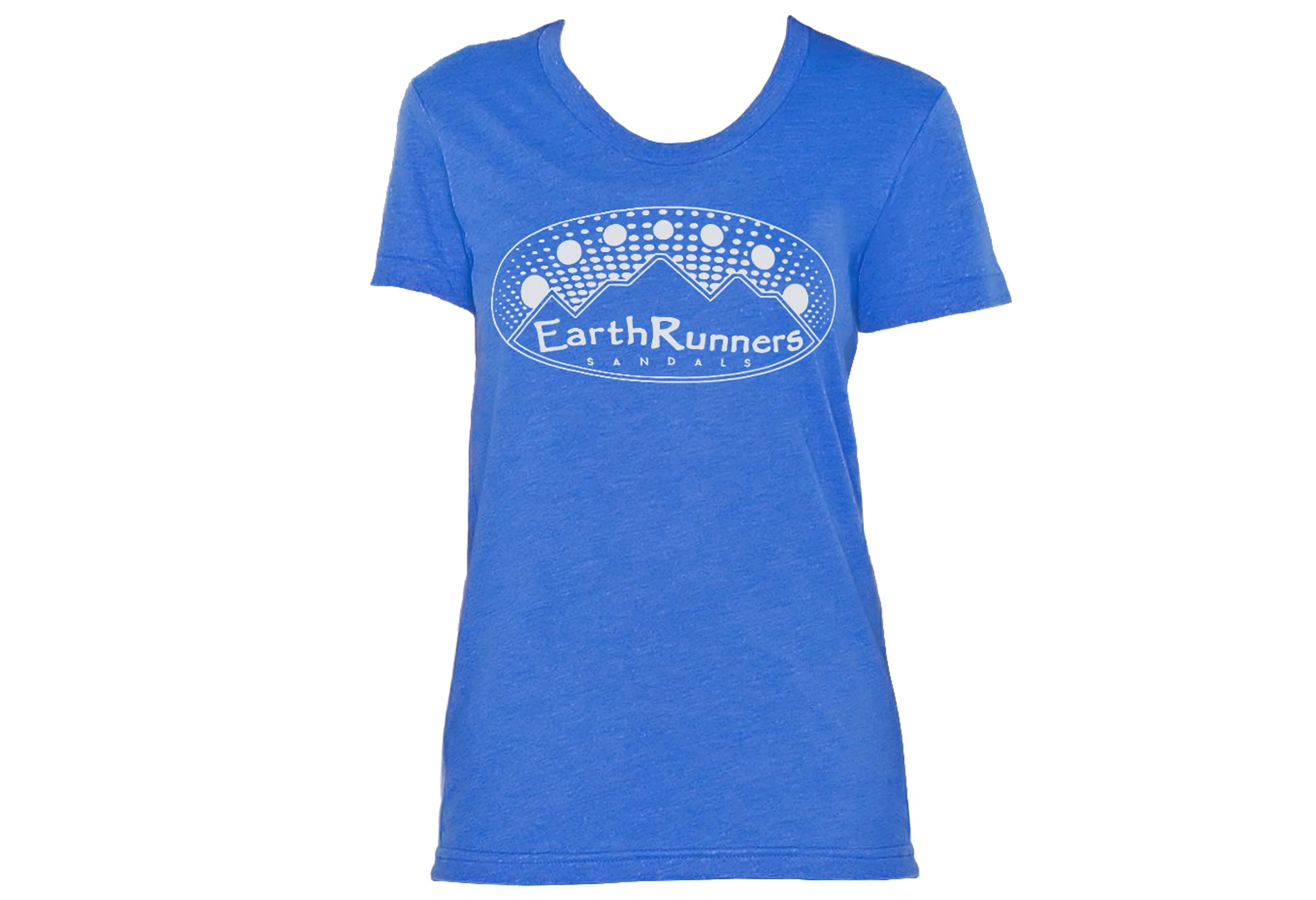 womens blue earth runners shirt
