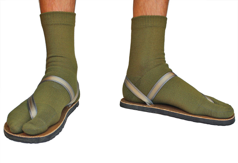 Crew Wool Tabi Socks - Green