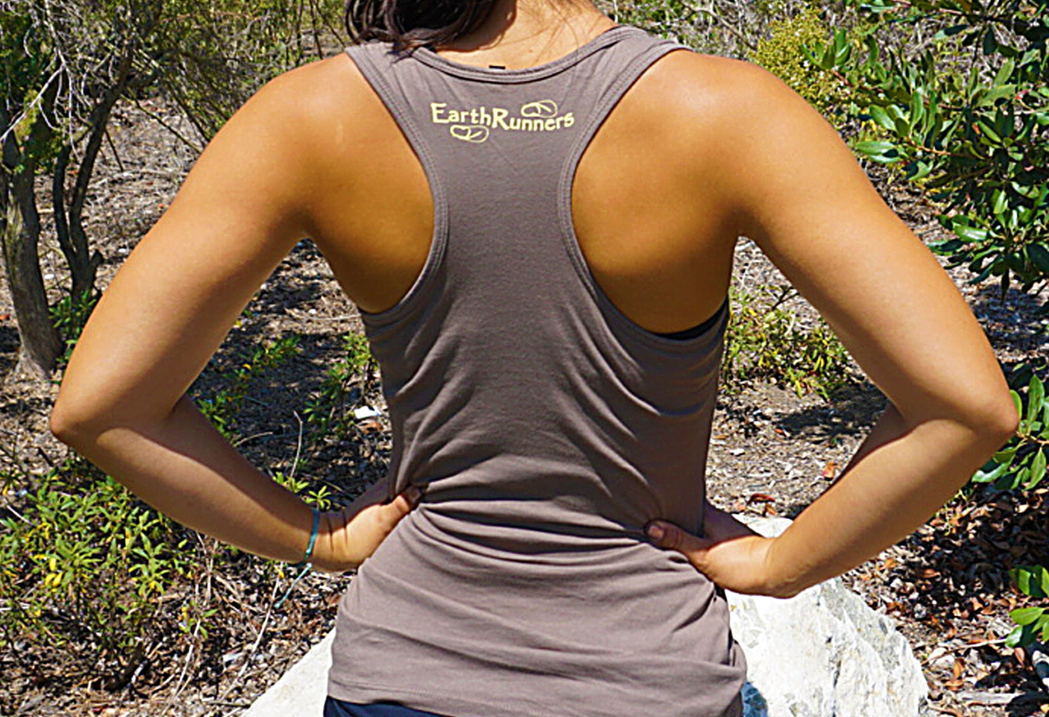 earth runners racerback tank