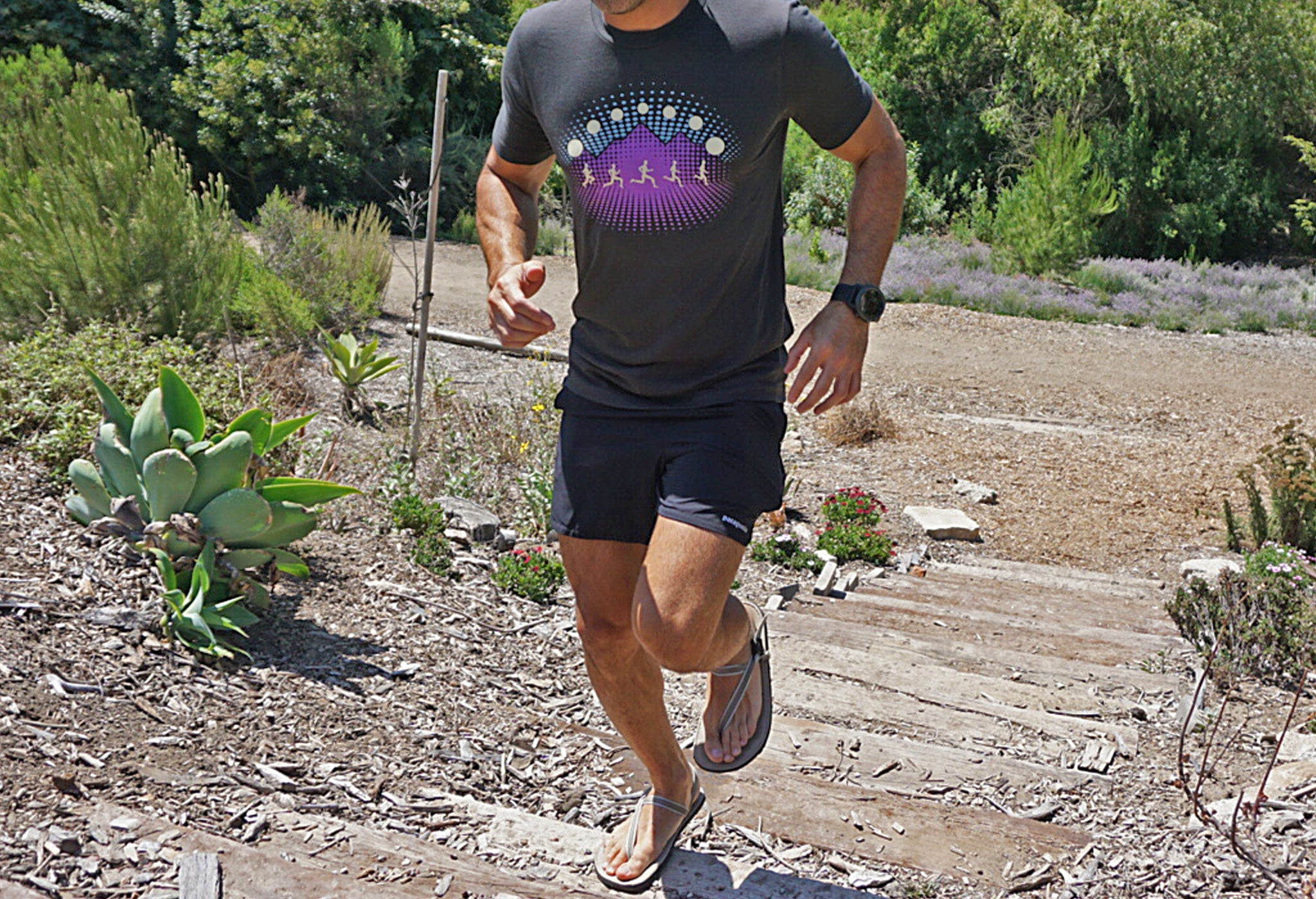 earth runner running tshirt