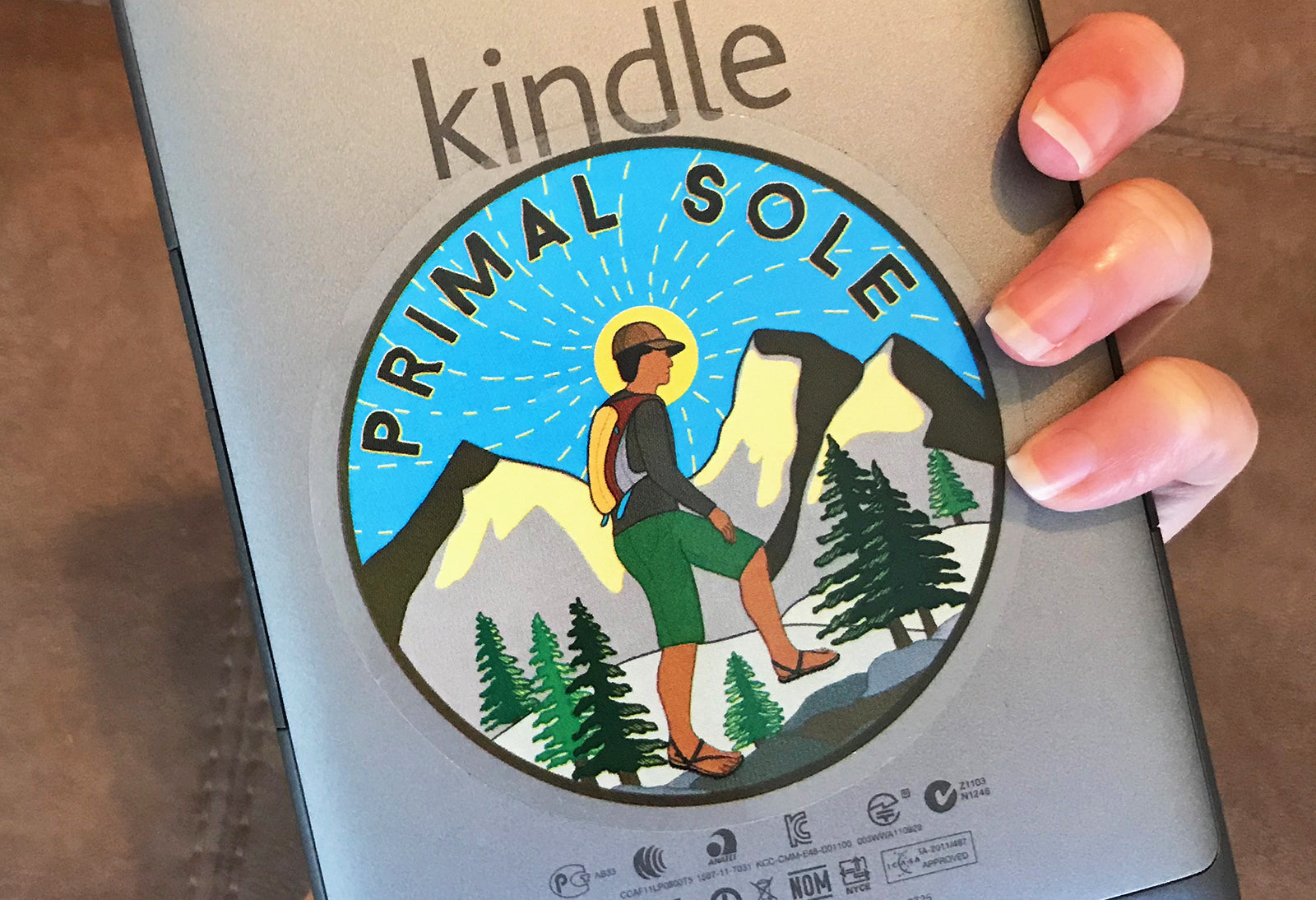 primal sole hiker sticker