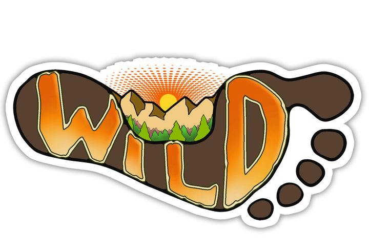 rewild your wild sole sticker