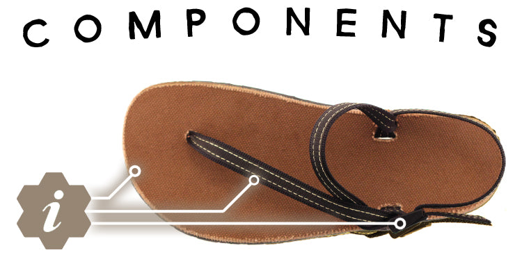 running sandals components