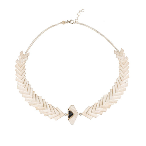 Construct Necklace white