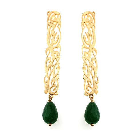 Inta Omri Earrings: Green