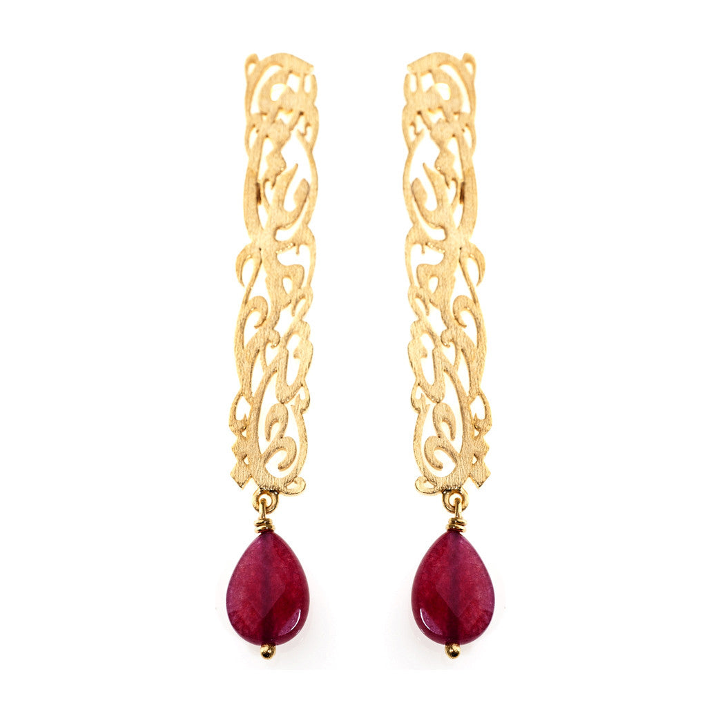 Inta Omri Earrings: Red