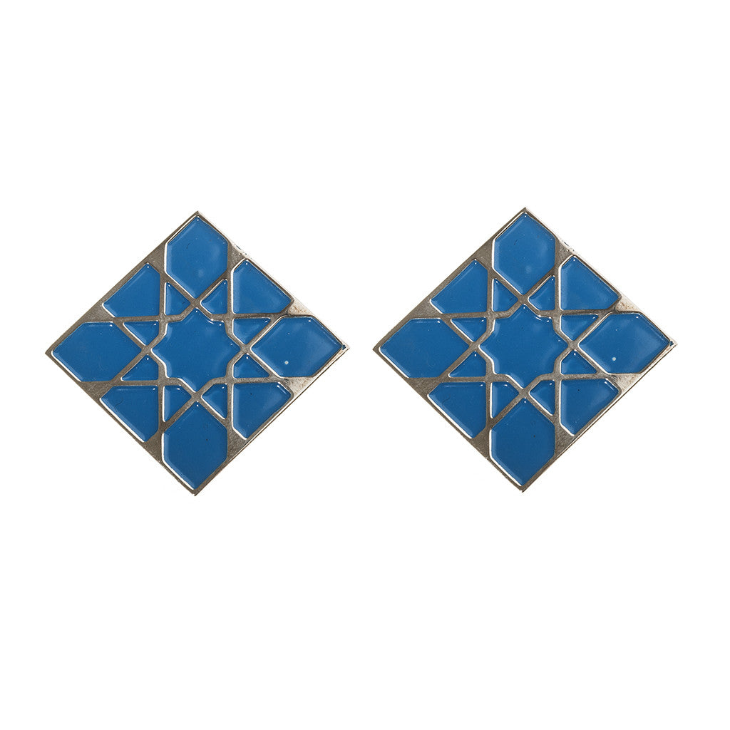 Alhambra turquoise square earrings