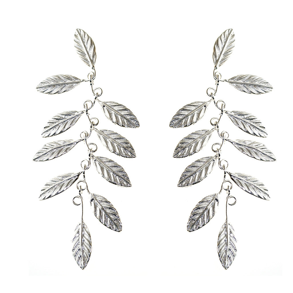 Earrings Leaves