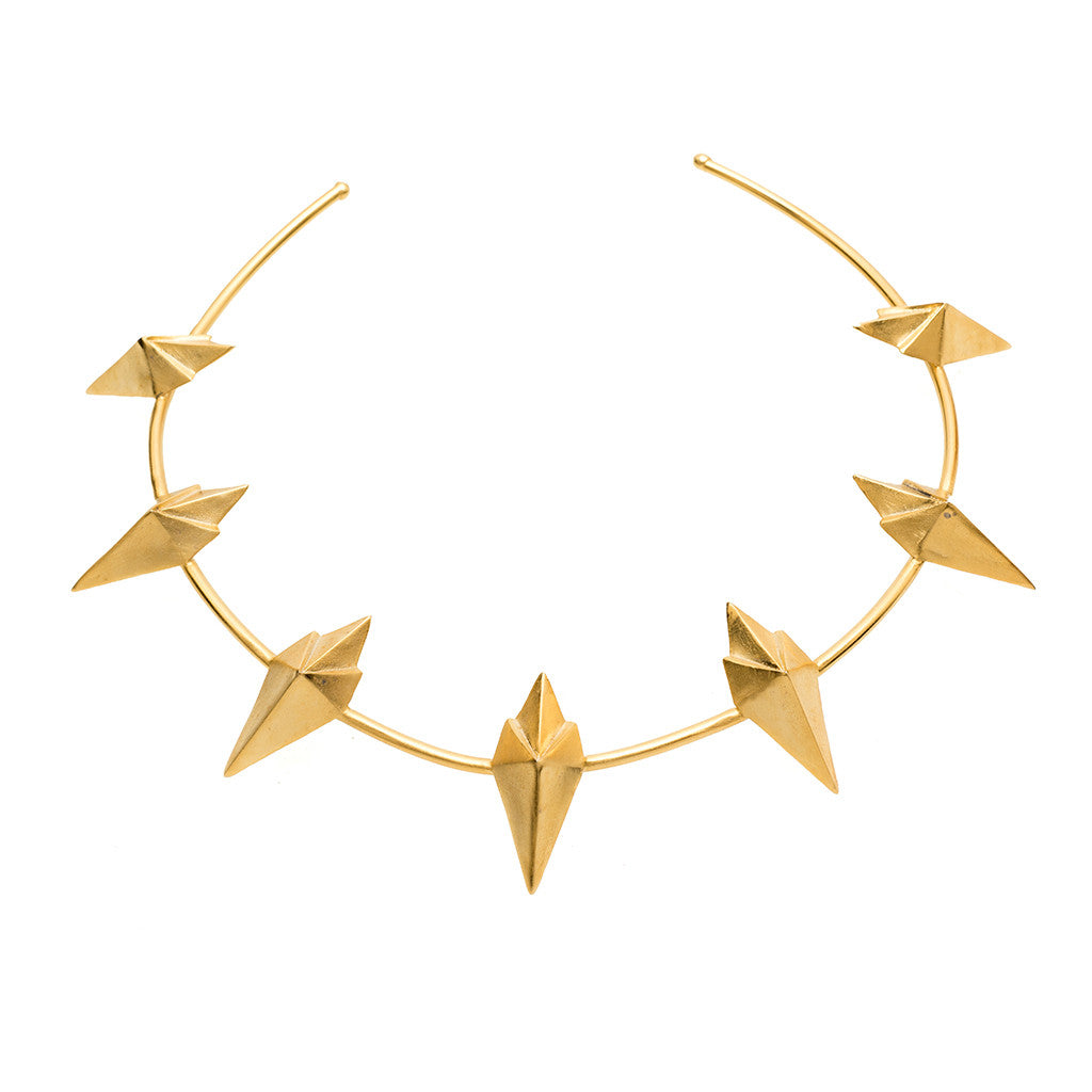 Golden Spear Necklace