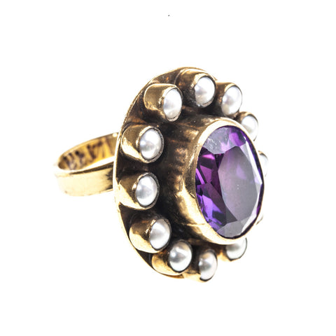 Multi Gem Oval Ring