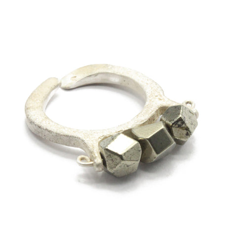 Pyrite Ring white