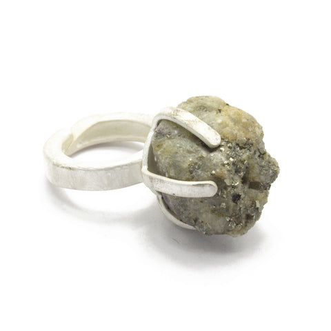 Big Rough Pyrite ring