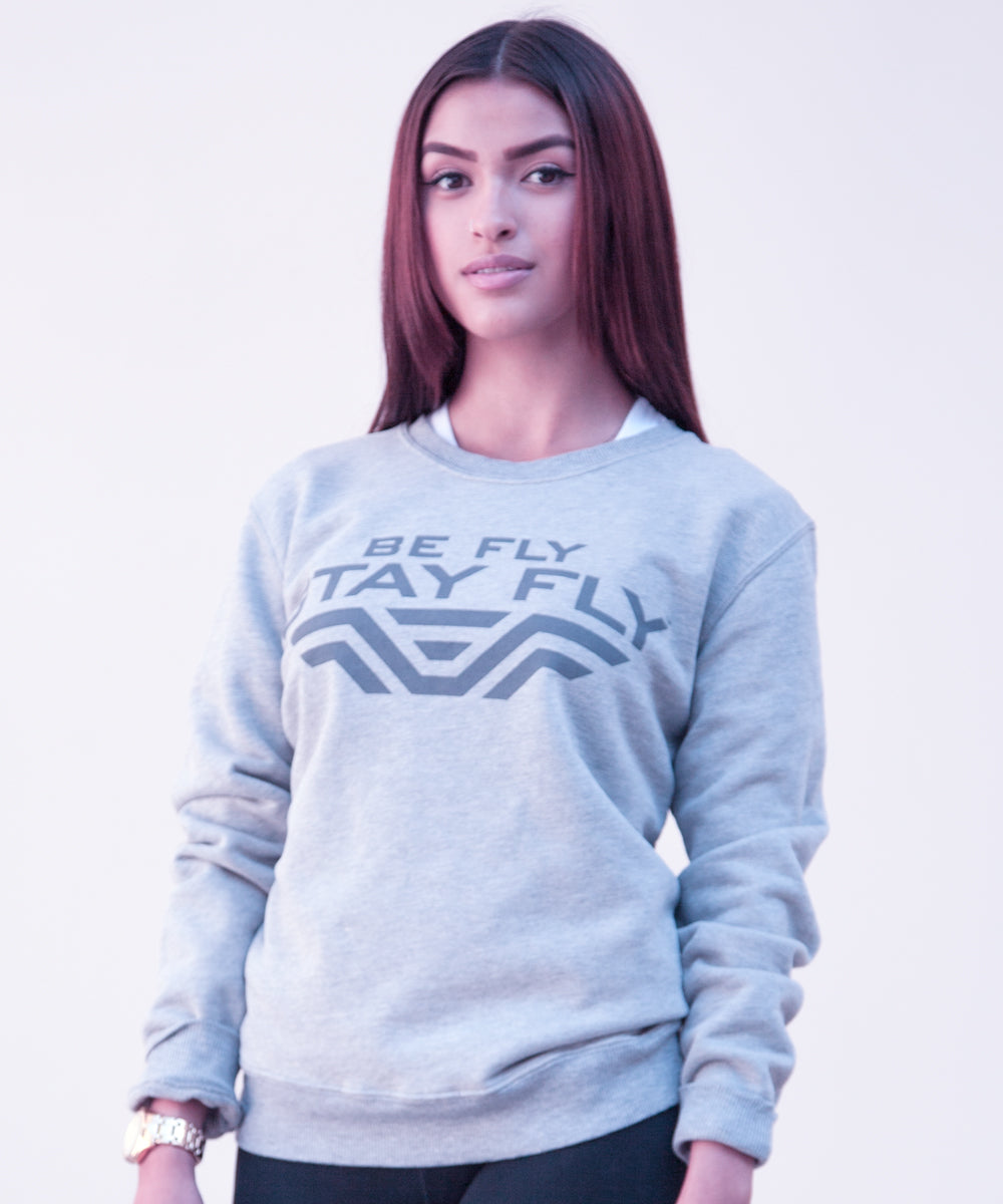 BEFLY Grey Crewneck Sweatshirt