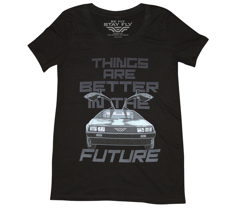 Better Future DeLorean Girls T-shirt