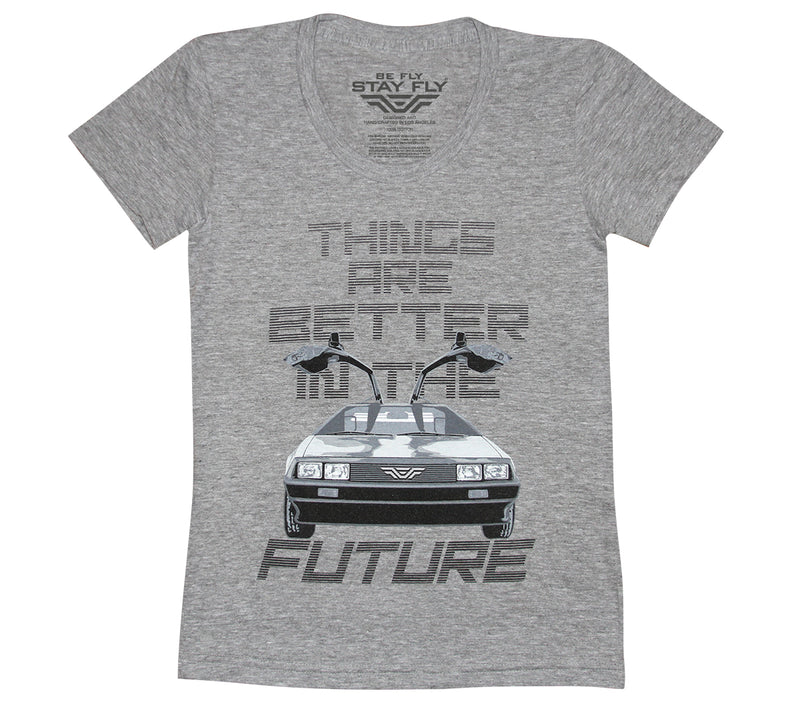 Better Future DeLorean Girls Tri-Blend T-shirt