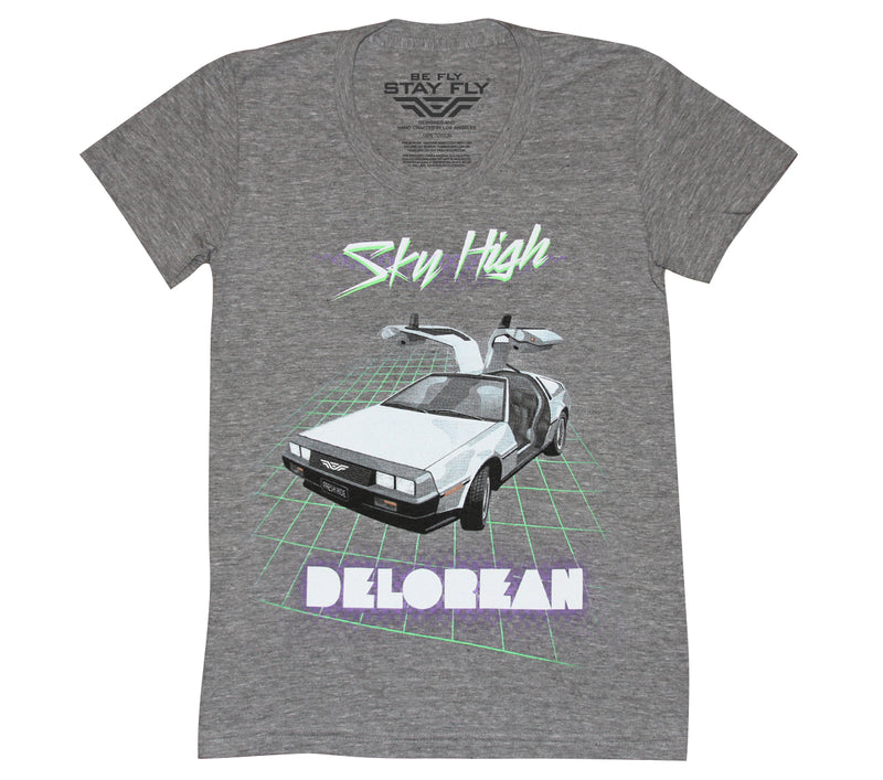 Sky High DeLorean Girls Tri-Blend T-shirt