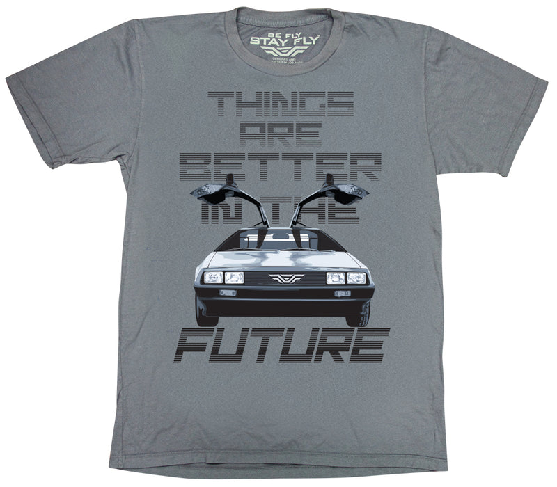 Better Future DeLorean Mens Tri-Blend T-shirt