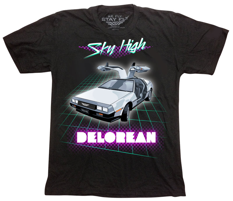 Sky High DeLorean Mens T-shirt