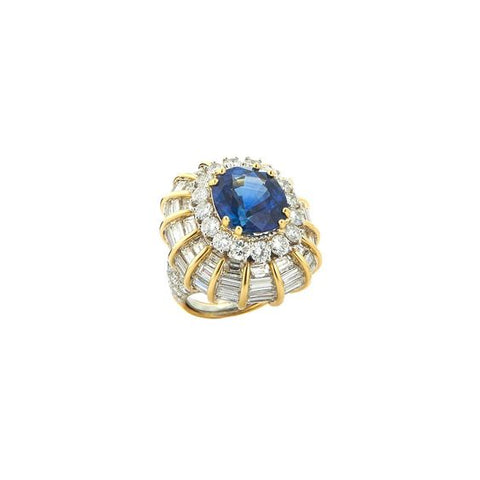 Antique Sapphire, Gold and Platinum