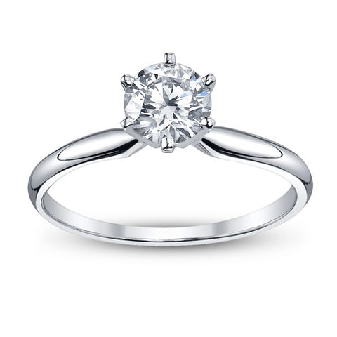 Round-Cut Solitaire Engagement Ring (.35ctt) - Bullion & Diamond, Co.