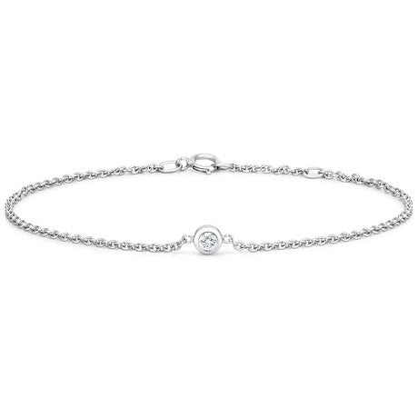 DIAMOND BEZEL BRACELET in 18k White Gold