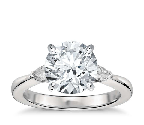 Classic Pear Shaped Diamond Engagement Ring in Platinum (1/4 ct. tw.) - Bullion & Diamond, Co.