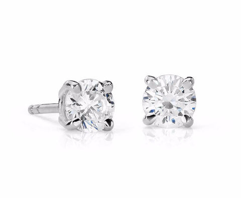 Diamond Stud Earrings in 14k White Gold  (3/4 ct. tw.) - Bullion & Diamond, Co.