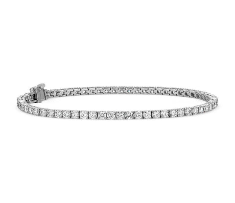 Diamond Tennis Bracelet in 18k White Gold - F / VS (4 ct. tw.)