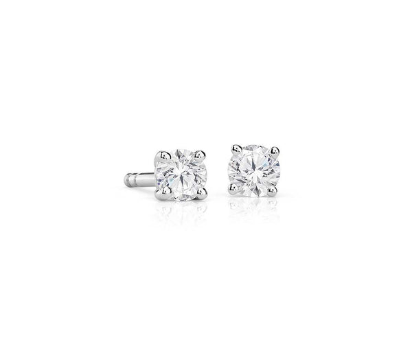 Round Diamond Stud Earrings in 14k White Gold (1/4 ct. tw.)