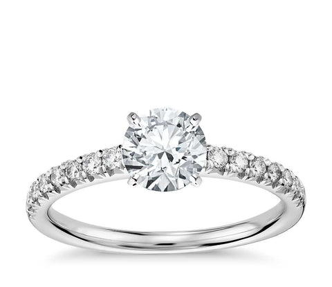 Pave Diamond Engagement Ring - Bullion & Diamond, Co.