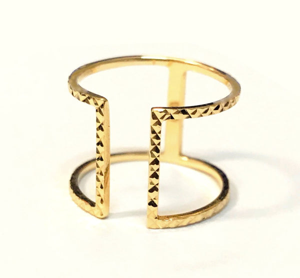 Double Bar Ring in 18k Gold - Bullion & Diamond, Co.