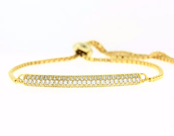 Diamond Bar Bracelet in Sterling Silver