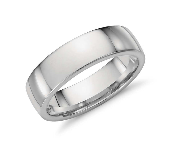 Comfort Fit Wedding Ring in platinum - Bullion & Diamond, Co.