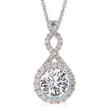 18K Gold Diamond Twist Pendant - Bullion & Diamond, Co.