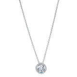 Diamond Halo Pendant in 14k White Gold (0.3 ct. tw.) - Bullion & Diamond, Co.