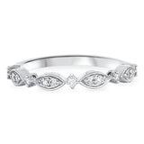 Milgrain Diamond Wedding Ring in 14k White Gold (1/5 ct. tw.) - Bullion & Diamond, Co.
