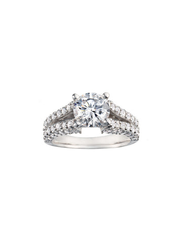 Round Prong Set Diamond Engagement Ring - Bullion & Diamond, Co.